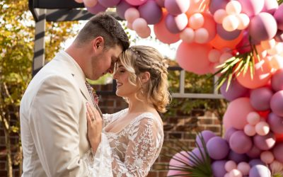 Palm and Pastel Boho Chic Styled Shoot