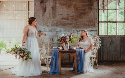 Vintage Patriotic Summer Elopement @ The Old Cotton Gin